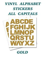 2 x  Set of Full Alphabet Gold Letters  Self Adhesive Vinyl Stickers size 20mm