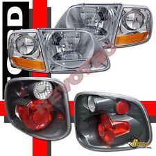 01 02 03 Ford F-150 F150 SVT Supercrew Harley Davidson Headlights + Tail Lights