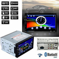"7"" HD Touch Screen Double 2 DIN Car Stereo DVD CD Player Bluetooth Radio FM"