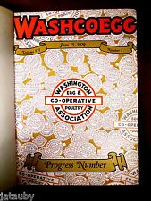 RARE 1929 WASHCOEGG WESTERN WASHINGTON POULTRY BOOK chicken egg farm vintage ads