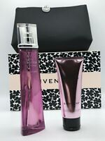 GIVENCHY VERY IRRESISTIBLE PERFUME SPRAY 2.5 OZ + BODY LOTION + POUCH NIB