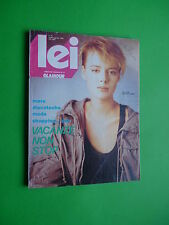 LEI Glamour Italy Fashion Luglio Agosto 1983 July August Lara Harris Marc Rogier