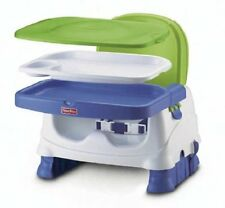 Portable Booster Seat Blue Green Gray Fisher Price Feeding Tray Child Adjustable