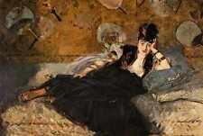 Metal Sign Lady With Fans Portrait Of Nina De Callais 1873 1874 A4 12x8 Aluminiu
