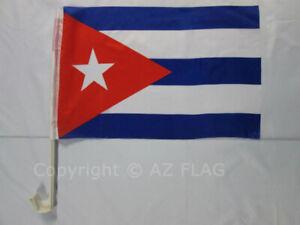 CUBA CAR FLAG 18'' x 12'' - CUBAN CAR FLAGS 30 x 45cm - BANNER 18x12 INCHES HIGH