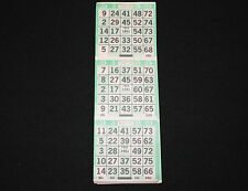 """BINGO PAPER Cards 3 on Letter """"X"""" pattern Green 200 sheets FREE Priority SHIP"""