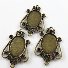 Base Tray Alloy Jewelry Findings Charms 10pcs/lot Vintage Brozne Tone Oval Cameo