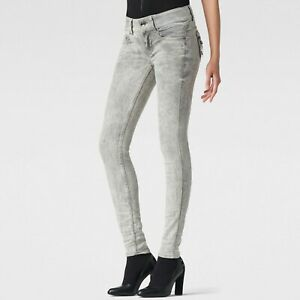 G-Star Womens 28x32 Midge Cody Skinny Jeans Med Slander Grey BNWT RRP £110  GS19