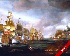 NAVAL BATTLE OF LOWESTOFT PAINTING ENGLAND ANGLO DUTCH WAR ART REAL CANVASPRINT