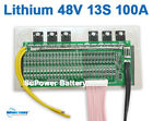 48V 54.6V 13S 100A Lthium ion Li-ion Li-Po LiPo Polymer Battery BMS PCB System