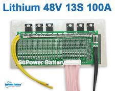 48V 54.6V 13S 100A Lithium ion Li-ion Li-Po LiPo Polymer Battery BMS PCB System