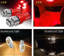 T10 LED 5SMD 5050 RED BRIGHT Car DASH Interior LEDS 194 168 Car Light Bulbs
