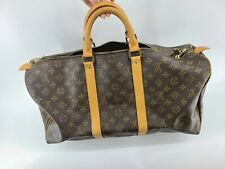 Louis Vuitton Keepall 50 Duffel LV Travel Bag Carry on Luggage weekender 10456