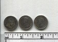 (3) Canada 10 cent silvers Type Coins: 1906 1913 1943