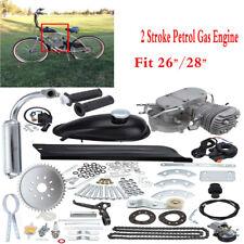 2 temps 50cc Silver Motorisé Essence Moteur Moteurs Gaz Motor Kit 30 km / heure