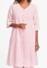 FLAX Designs     LINEN  DRESS   M  &   L    NWT  Night Duster  PETAL PINK