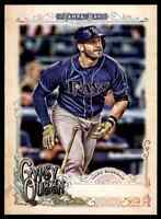 2017 TOPPS GYPSY QUEEN MISSING BLACK PLATE EVAN LONGORIA TAMPA BAY RAYS #174