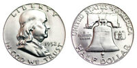 1952-D Franklin Half Dollar Brilliant Uncirculated- BU