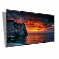 Projector Screen 16:9 Foldable Anti-crease Portable,Double Sided Projection 100""