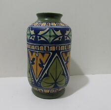 James Plant Pottery rare Art Deco 1930's hand painted Gouda style Vase Stunning!
