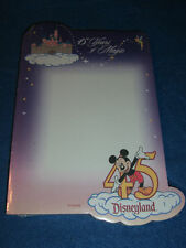 Vtg 45 Years DISNEYLAND Paper Notepad Mickey NIP SEALED