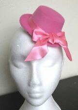 pink mini top hat fascinator millinery burlesque wedding hen party fancy dress