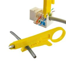2x Yellow Network Lan Wire Cable Punch Down Stripper UTP for RJ45 Cat5 Nützlich