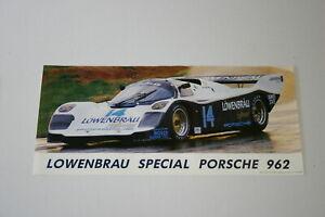 1980'S FULL COLOR POSTER LOWENBRAU PORSCHE 962 IMSA CAMEL GT HOLBERT ROBINSON