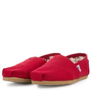 NEW TOMS MEN CLASSIC CANVAS RED FLATS ORIGINAL 001001A07