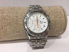 Vintage Reloj Watch Montre LOTUS Chronograph Quartz 38mm Steel WR 50M - White
