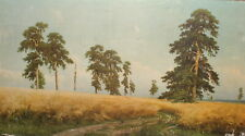 Ivan Shishkin, Rye field, Vintage canvas print reproduction signed