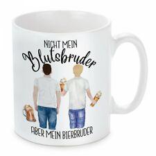 Herzbotschaft® Tasse mit Motiv: Nicht mein Blutsbruder - Aber mein Bierbruder!