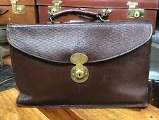Vintage Brown leather ER document  business case briefcase