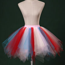 Multicolor Ballet Multi-layer Dress Petticoat Tutu Costume Short Skirt anomaly