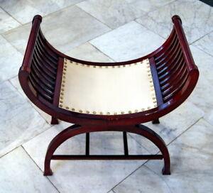 Art Nouveau Gondola Chair Leather Covered Vienna Ca: 1915