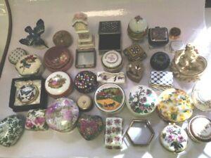 35 Piece Bundle Of Miscellaneous Trinket Pill Boxes Ornaments Villeroy Boch #670