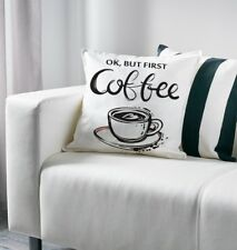 """OK but first Coffee Art Decorative Accent Pillow Cushion Cover Home Gift 20"""""""