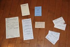 WW2 US American Soldiers paper work set, reproduction