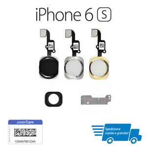 TASTO HOME Button COMPATIBILE PER Apple iPhone 6S Pulsante flex oro-nero-bianco