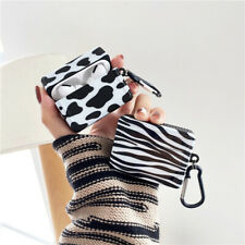 Cute Cow milk zebra pattern Square Earphone bag Cover For Apple AirPods Pro Case