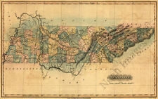 Map of Tennessee c1826 repro 19x12