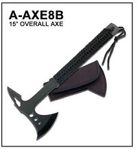 "BRAND NEW 15"" Survival Throwing Tomahawk Camping Tactical  Axe Hatchet"