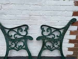 Cast iron pair of bench ends #3