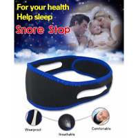 Sleep Apnea Jaw Solution TMJ Snore Stop Belt Anti Snoring Cpap Chin Strap