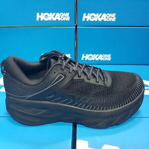 NEW Hoka One One Bondi 7 X-WIDE (4E) 1117033/BBLC Black Running Shoes For Men's