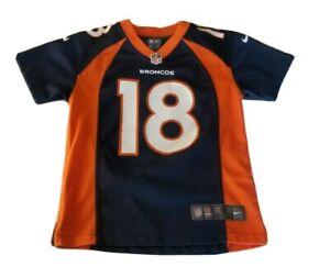 Nike On Field Peyton Manning Denver Broncos Blue Jersey Size Kids Small
