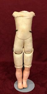 Antique German Leather Doll Body for Bisque Head