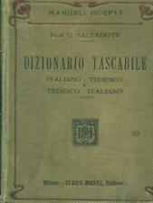 DIZIONARIO TASCABILE ITALIANO-TEDESCO TEDESCO-ITALIANO  G. SACERDOTE HOEPLI 0000