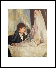 Berthe Morisot Die Wiege Poster Kunstdruck mit Alu Rahmen in schwarz 71x56cm