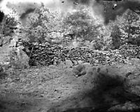 New 8x10 Civil War Photo: Fortifications on Little Round Top after Gettysburg